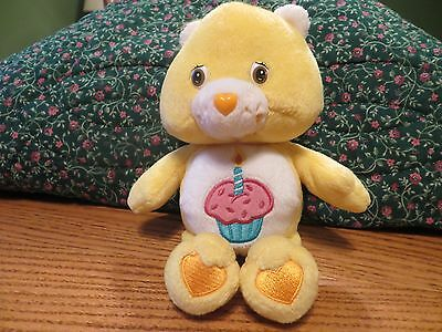 "Care Bears 8"" Yellow Birthday Bear 2003"