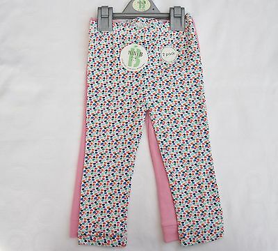Baby Girls Toddlers Leggings 2 Pk Spot/Plain Cotton Leggings 0-3 up to 18-24 Mth