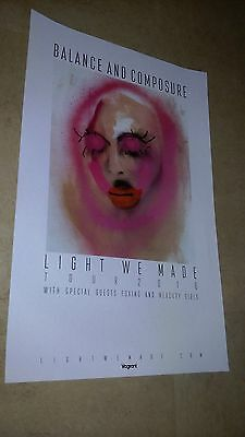 POSTER by LIGHT WE MADE balance and composure For the  tour release album cd