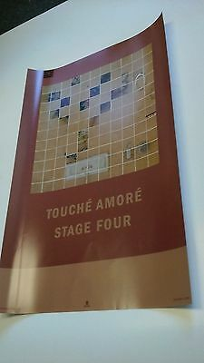 POSTER by TOUCHE AMORE stage four / promo for bands tour album cd stage 4