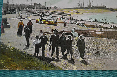 Whitstable - Whitstable Beach in front of Hotel Continental - lovely social card