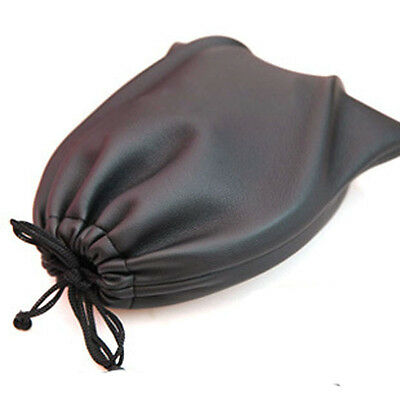 Portable Leather Soft Storage Bag Earphone case Headset Pouch DJ Headphones bag