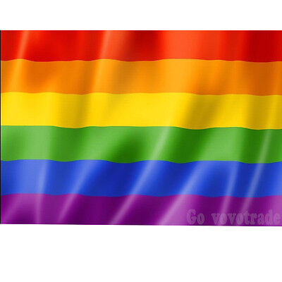 GAY Pride Rainbow FESTIVAL Flag 2FT X 3FT Large Peace Oxford Lesbian Flags UK