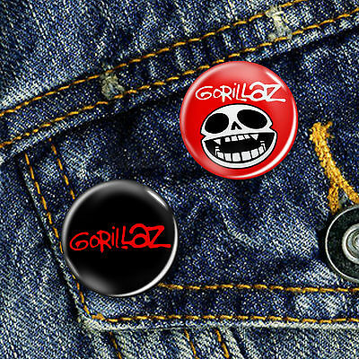 Gorillaz Indie Dance Rock Pin Button Badge Choice of 2 Badges