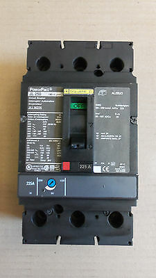 Square D Jll Jll36225 3 Pole 225 Amp 600V Circuit Breker Powerpact