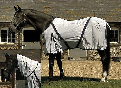 RHINEGOLD horse / pony FLY RUG with SEPARATE NECK COVER  in sizes 4'6 - 7'0