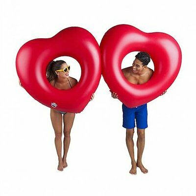 Big Mouth GIANT TWO HEARTS Pool Float 2 Person INFLATABLE 1.8m 6 Feet