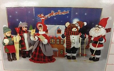 vtg telco motion-ettes of christmas pop up backdrop display Outdoor House Scene