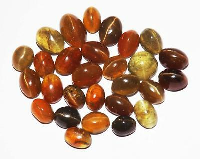 125 cts 100% Natural Untreated  Apatite Cat's Eye Gemstone Lot #ymsl56