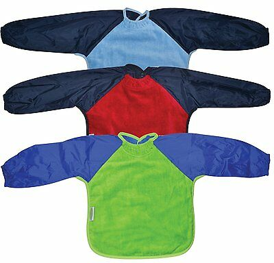 Silly Billyz Long Sleeve Snuggleneck Baby Bib Large Ages 1-3 Pack of 3