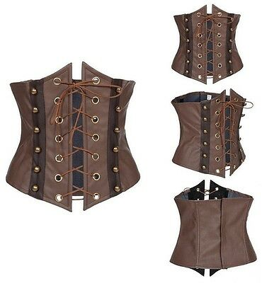 Medieval Victorian Steampunk Masquerade Party Lace-up Corsets Tight Waist