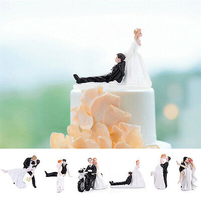 Wedding Party Decoration  Wedding Cake Topper Synthetic Resin Bride&Groom Decor