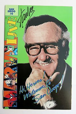 Marvel Live (San Diego Comic Con Special) #0 - Stan Lee Signed (No COA)