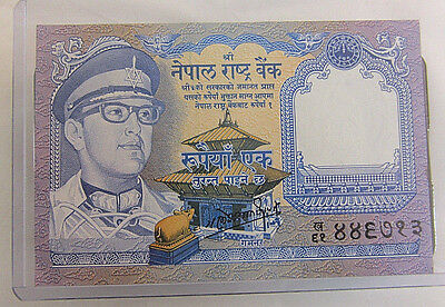 1 Rupee 1974 Banknote from Nepal  #44303