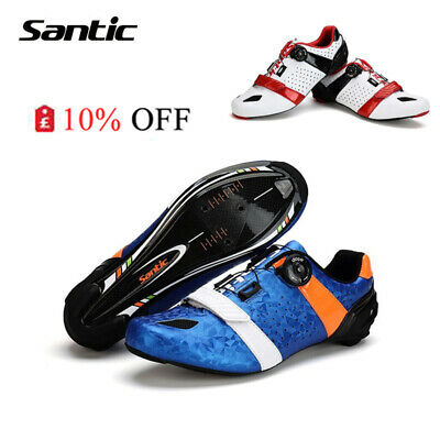 Santic Men Road Cycling Shoes Ultralight Carbon Fiber Sole Auto-Lock  Shoes