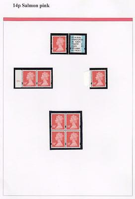 SPECIALISED COLLECTION OF UNMOUNTED MINT 14p MACHINS
