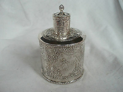 Tea Caddy Victorian Sterling Silver London 1894 (Import)
