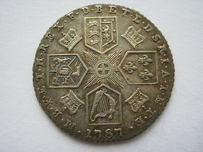 1787 Sixpence without semee of hearts GVF