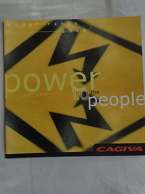 Cagiva range brochure 2000 Italian & English text