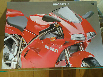 Ducati 748 motorcycle brochure c2000's multi text