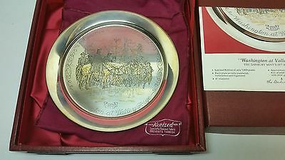 """Vintage Danbury Mint 1977 STERLING SILVER 233g Not Scrap """"Valley Forge"""" Plate"""