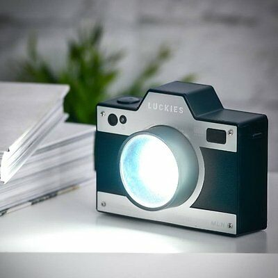 Luckies RETRO CAMERA Style LIGHT Bedside Night Lamp RECHARGEABLE
