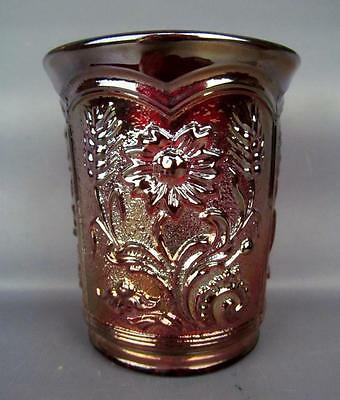 CONTEMPORARY CARNIVAL GLASS - IMPERIAL FIELDFLOWER Red Tumbler