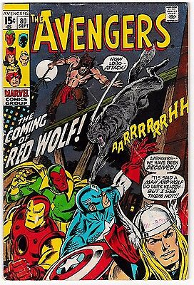 AVENGERS #80 (GD/VG) 1st Red Wolf Appearance! Classic Bronze-Age Marvel  1970