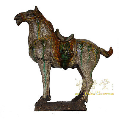 Vintage Chinese Porcelain Tang Horse Statue 16LP100