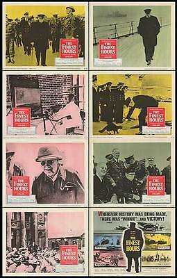 THE FINEST HOURS orig WW2 1964 movie documentary lobbycard set WINSTON CHURCHILL