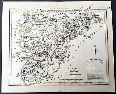 1808 Roper Antique Map of The West & East Ridings of Yorkshire, England