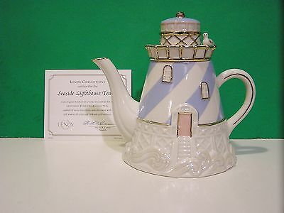 LENOX SEASIDE LIGHTHOUSE TEAPOT sculpture NEW in BOX with COA