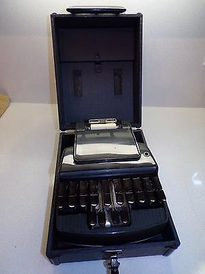 VTG STENOGRAPH REPORTER MODEL STENOGRAPHER COURT SHORTHAND MACHINE W CASE -153a