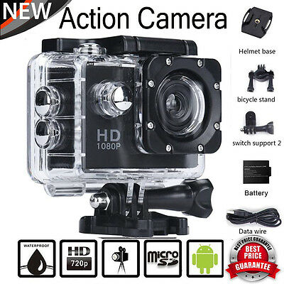 "2.0"" 1080P 12MP FHD Helmet Motorcycle Sport Action Waterproof Camera Cam SJ5000"