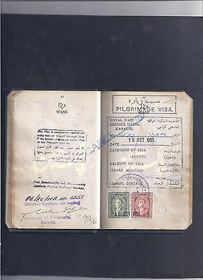 Irak Iraq Pakistan France Travel Book With Many Revenue And Visa Pages Complete