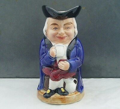 Burlington Ware Shaw & Sons Pottery Toby Jug With Space For Musical Movement