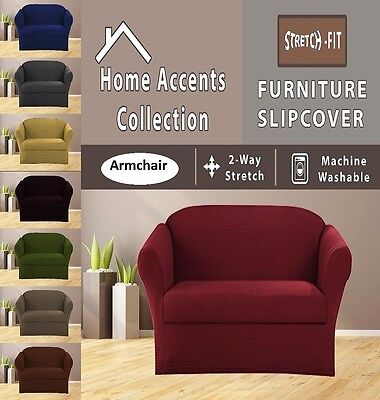 JERSEY STRETCH 1 Pcs Furniture Slipcover, Armchair / Arm Chair Cover MANY COLORS