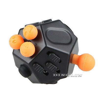 12-Side Fidget Cube Toy Anxiety Stress Attention Relief Puzzle Adult Kids Gifts