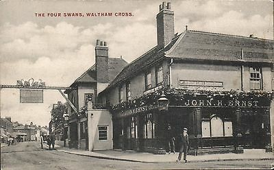 Waltham Cross. The Four Swans # 257 by Charles Martin. John H.Ernst.