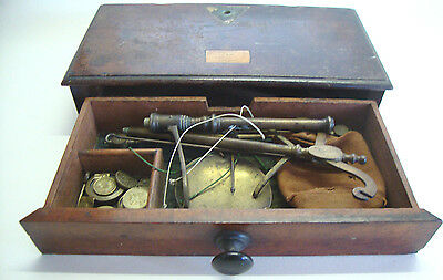 Antique Victorian traveling set of cased scales by S.MAWSON & THOMPSON LONDON
