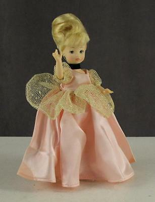 "Vintage Plastic Toy Doll HORSMAN 9"" Blonde Updo Pink Dress CINDERELLA 1981"