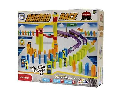 59 Piece Build & Knock Down Marble Dominoes Domino Race  Game Toy Set R05-0050