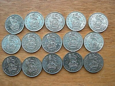 English Shillings 1937 to 1951 - all Bright Uncirculated -  choose your date