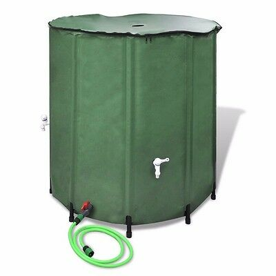 750L Outdoor Collapsible Water Tank Garden Rain Storage Container with Hose