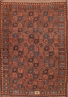 """Great Deal Geometric Antique 4x5 Balouch Afghan Oriental Area Rug 4' 11"""" x 3' 8"""""""