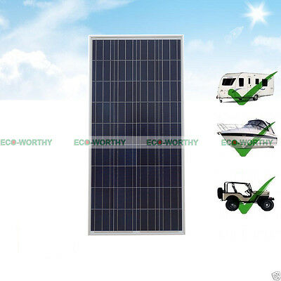 High Power 160W 12V Solar Panel Module for Home Car Boat PV System Camping