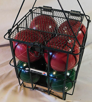 Sportcraft Complete Bocce Ball Set Used with Steel Case 4-Maroon 4-Green 1-Jack
