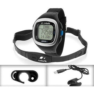 Runtastic GPS Watch and Heart Rate Monitor Black RUNGPS1