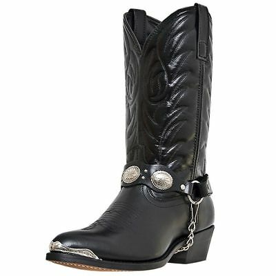 Laredo Western Boots Mens Tallahassee Silver Toe Plate Black 6770