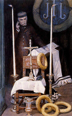 Oil painting Male portait Tissot James French Portrait of the Pilgrim Hand paint